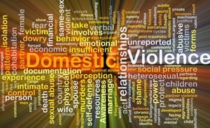 Visual of domestic violence and terms related to it for a case in Bronx